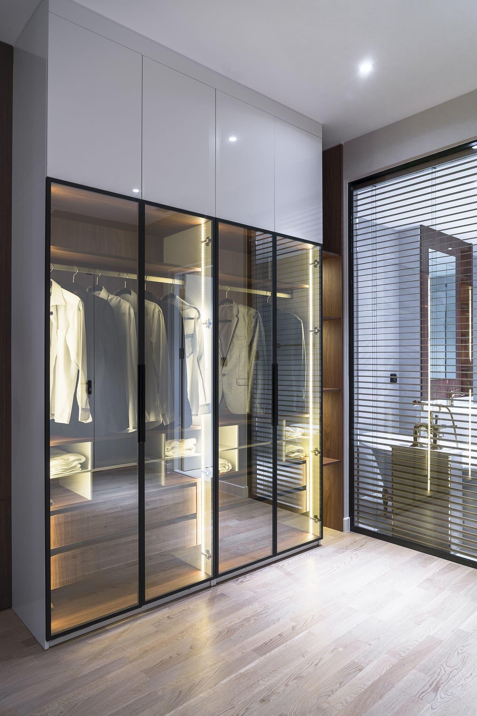 glass wardrobe shutters